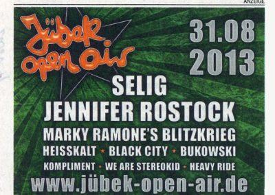 2013 Anzeige – Ger – Marky Ramone Juber Open Air