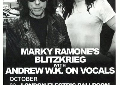 2013 Vive Le Rock – Uk – Marky Ramone Tour Uk