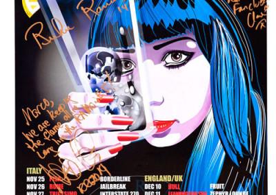 2014 Richie Ramone tour Autografato