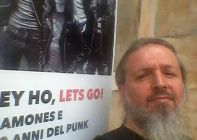Old Ramones punk rocker