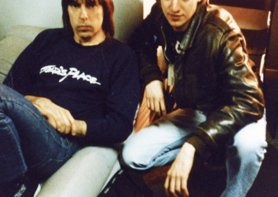 Johnny Ramone e Stefano Rossi