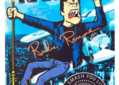 2015 Richie Ramone tour Autografato